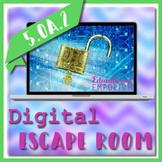 ⭐ NO PREP ⭐ Numerical Expressions Escape Room ⭐ 5.OA.2 Activity