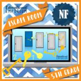 ⭐ NO PREP ⭐ 5th Grade Math Escape Room ⭐ Fractions ⭐