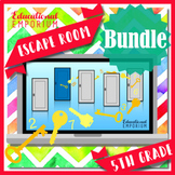 ⭐ NO PREP ⭐ 5th Grade Math Escape Rooms BUNDLE ⭐