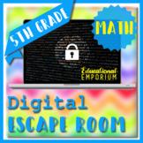 ⭐ NO PREP ⭐ 5th Grade Math Review Escape Room ⭐ 6th Grade Back to School Math