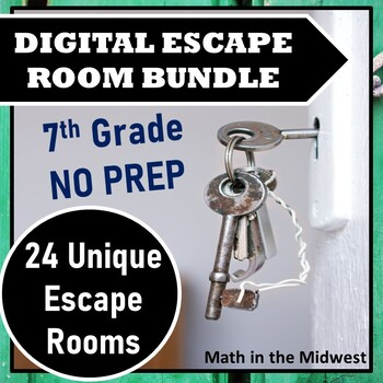 ⭐NO PREP 7th Grade Math Escape Room Mega Bundle⭐ALL ...