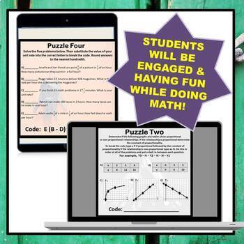 ⭐NO PREP 7th Grade Math Escape Room Mega Bundle⭐ALL STANDARDS