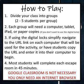 ⭐NO PREP Algebra 1 Math Escape Rooms Bundle⭐