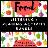 *NO PREP* BUNDLE French FOOD listening, reading & speaking activities nourriture