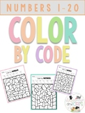 * NO PREP* Color by code numbers 1-20 for kindergarten