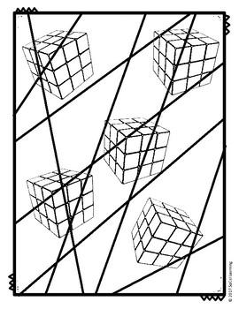 **NO PREP** Cube Line Art
