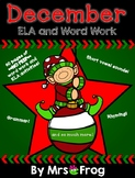 **NO PREP** December ELA and Word Work Bundle