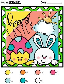 *NO PREP* Easter Color By Equivalent Fractions