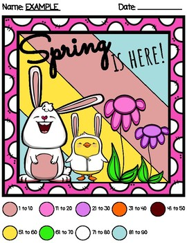 *NO PREP* Easter Color By Multiplication and Division Math Center