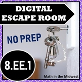 ⭐NO PREP Exponent Laws Escape Room⭐8.EE.1 Activity