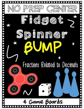 **NO PREP** Fidget Spinner Bump Game - Fractions Related to Decimals