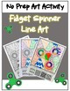 **NO PREP** Fidget Spinner CLOSE READ and ART PROJECT **End of Year FUN**