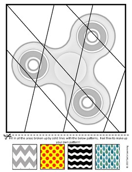 **NO PREP** Fidget Spinner Line Art Bonus Pack **Back to School Fun**