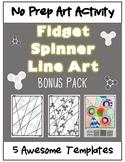 **NO PREP** Fidget Spinner Line Art Bonus Pack **Back to S