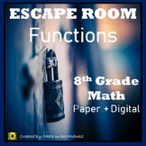 ⭐NO PREP Functions Escape Room {8th Grade Math}⭐