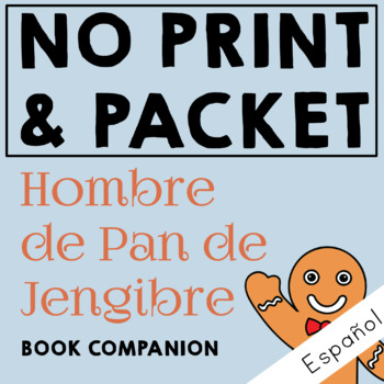 Hombre de Pan de Jengibre Spanish Book Companion for Speech Therapy in Preschool