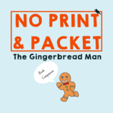 Gingerbread Man *PRINT & GO*: Speech Therapy Companion for Language and Literacy