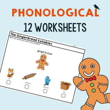 Distance Learning The Gingerbread Man Book Companion for Speech Therapy in PreK