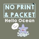 Hello Ocean *PRINT & GO* : Summer Speech Therapy Companion- Phonology   Vocab