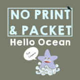 Hello Ocean Summer Book Companion for Speech Therapy in Preschool and Up