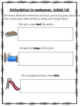 *NO PREP* Initial SL Sentence Sheet