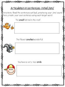 *NO PREP* Initial SM Sentence Sheet