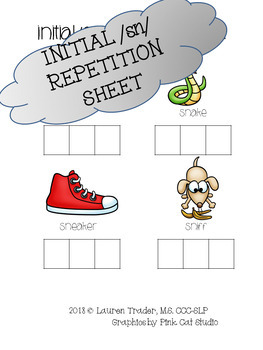 *NO PREP* Initial /sn/ Repetition Sheet