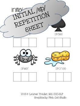 *NO PREP* Initial /sp/ Repetition Sheet