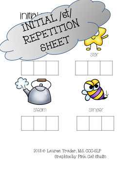 *NO PREP* Initial /st/ Repetition Sheet