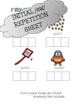 *NO PREP* Initial /sw/ Repetition Sheet