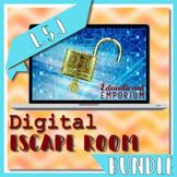 ⭐ NO PREP ⭐ Usage and Grammar Escape Room BUNDLE L.5.1 ⭐ 5L1 - L51