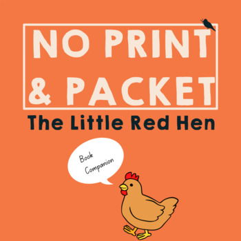*PRINT & GO* Little Red Hen: Fall Speech Therapy Companion