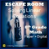 ⭐NO PREP Solving Linear Equations Escape Room {8th Grade Math}⭐