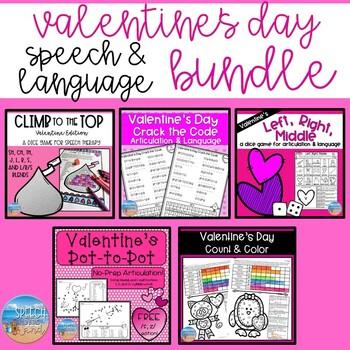 *NO PREP* Speech & Language Valentine's Day Bundle