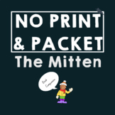 Distance Learning The Mitten Book Companion for Speech Therapy in Preschool