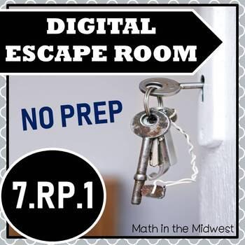 ⭐NO PREP Unit Rates Escape Room⭐7.RP.1 Activity