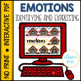 NO PRINT Emotions Speech Therapy Distance Learning