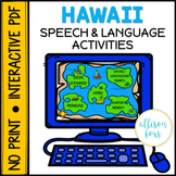 NO PRINT Hawaii Themed Speech Therapy Activities