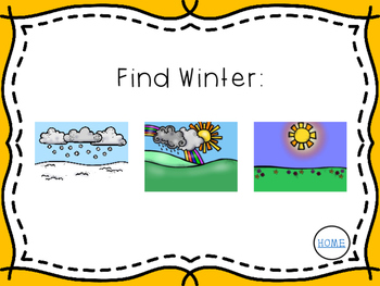 *NO PRINT* Interactive Weather & Seasons Mini-Unit
