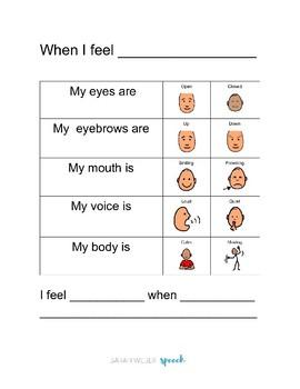 Feelings Breakdown Workbook