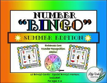 **NUMBER BINGO-SUMMER Edition**