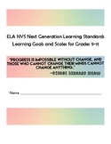 **NYS Next Generation ELA Standards into Learning Goals and Scales