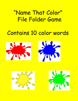 """Name That Color"" File Folder Game"