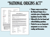 """""""National Origins Act"""" - 1920s - Red Scare - Immigration - APUSH"""