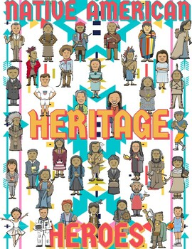 """""""Native American Heritage Heroes"""" Collaborative Poster"""