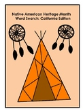 *Native American Heritage Month* Word Search: California N