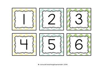 'Natural Color' CHEVRON Themed Calendar Set
