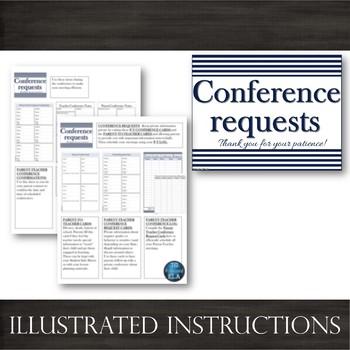 Parent-Teacher Conference Forms [Navy]