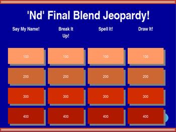 'Nd' Final Blend Jeopardy!