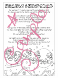 'Nearly Christmas'- Illustrated Lyrics- Printable